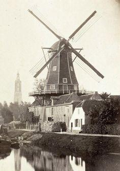Oliemolen 'De Rijzende Zon' aan de Kleine Koppel, 1864 Amersfoort