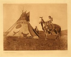 .Painted tipi - Assiniboin (The North American Indian; v.18)      CREATOR  Curtis, Edward S., 1868-1952.