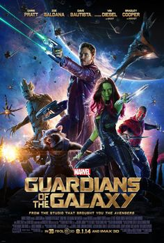 Can't wait to see this movie! --- Poster for Marvel's Guardians of the Galaxy movie. Starring Chris Pratt, Zoe Saldana, Vin Diesel, and Bradley Cooper. Great Movies, New Movies, Movies To Watch, Movies Online, Movies 2014, Movies Free, Comedy Movies, Horror Movies, Fiction Movies