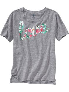 Girls Drop-Shoulder Graphic Tees Product Image
