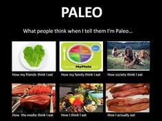 What people think when I tell them I'm Paleo...