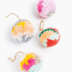 Pom Pom Ornament. Craft for Kids