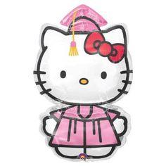 hello kitty graduation cap | Big Hello Kitty Pink Graduation Gown Helium Mylar Balloon... | review ...