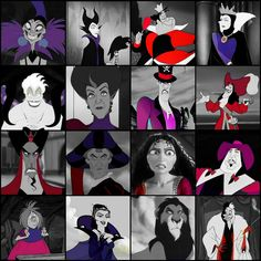 I've noticed that for most Disney villains, the most common colors are red, purple, and black. All Disney Movies, Disney Jokes, Disney And Dreamworks, Disney Pixar, Walt Disney, Evil Disney, Disney Magic, Evil Villains, Disney Villains