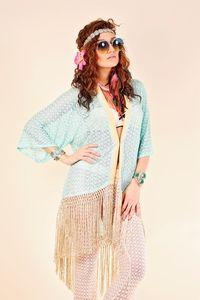 Zigzag Kimono Turquoise