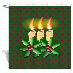 Shop unique Shower Curtains from CafePress. Great designs on professionally printed shower curtains. Holiday Shower Curtains, Christmas Candles, Special Day, Halloween, Design, Christmas Lights, Spooky Halloween, Twinkle Lights