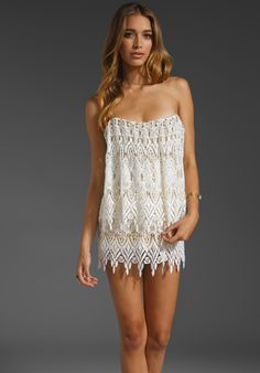 STONE_COLD_FOX Gwen Dress in Ivory Lace at Revolve Clothing - Free Shipping!