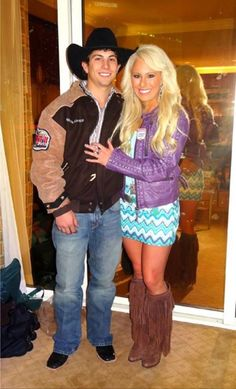 Chandler Bownds and girlfriend Megan; I love her outfit