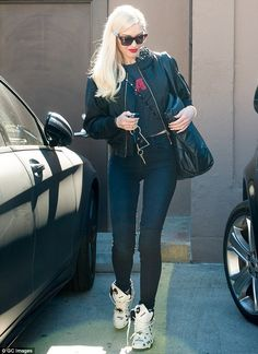 Gwen Stefani steps out in wedge trainers as she gets back to LA life after boasting about new horse | Daily Mail Online