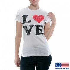The Ellen DeGeneres Show Shop product image: LOVE TEE