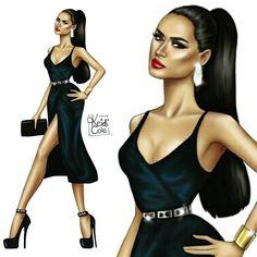 "399 Likes, 13 Comments - Keidi Cole Art & Illustrations (@keidicole) on Instagram: ""Fashion illustration inspired by the beautiful @missoduwa ❤ • #Drawing #fashionblog #fashionblogger…"""