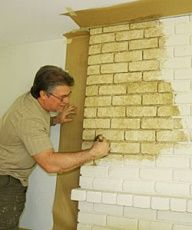 brick fireplace ideas (faux-finish painted)