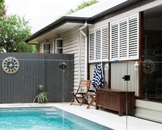 This charming post-war bungalow in Brisbane has been a renovator's delight for its owners who have transformed it with classic-contemporary style. Vista Paint, Ocean Photography, Photography Tips, Facade House, Contemporary Decor, Home Renovation, House Colors, Brisbane, French Doors
