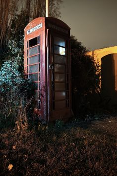 Derelict telephone box