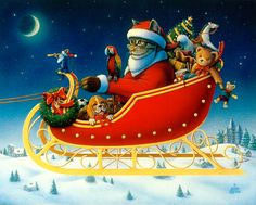 """A one mouse open sleigh"", painted by Don Roth. Prints available on web site."