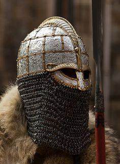 "paganroots: ""Jorvik Viking Festival by "" Viking Armor, Viking Helmet, Arm Armor, Medieval Armor, Medieval Fantasy, Viking Shield, Caballero Andante, Les Runes, Viking Culture"