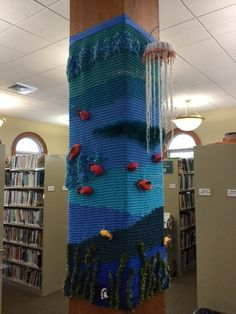 Yarn bombing in the library.  Have students or patrons knit up awesome projects and make them a part of the library decor.