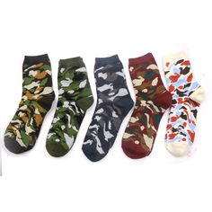 Underwear & Sleepwears 2019 New High Quality Mens Cotton Socks Harajuku Style Leaf Camouflage Short Socks For Men Hip Hop Skateboard Ankle Sock Man Dependable Performance