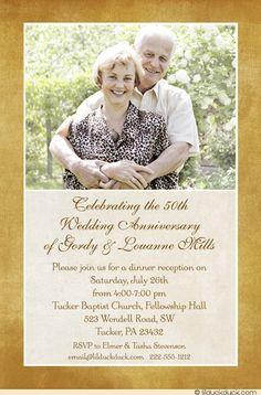 Free PDF template - Golden Wedding Anniversary Invitation Template ...