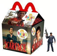If Happy Meals Toys Were Based on Our Fave Cult Movies Cult Movies, Action Movies, Horror Movies, Ghost Movies, Natural Born Killers, Kill Bill, Blade Runner, Happy Meal Box, Marvel Masterworks