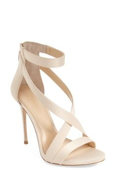 Free shipping and returns on Imagine Vince Camuto 'Devin' Sandal (Women) at Nordstrom.com. An alluring strappy sandal is given a daring lift by an ultra-slender stiletto heel. An ankle strap flatters and lengthens the leg, while a back zip closure finishes the look with an edgy touch.