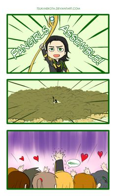 Fangirls Assemble by Tsuki-Nekota.deviantart.com on @deviantART