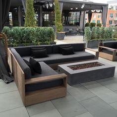 RH Outdoor More #luxurymoderninteriordesign #modernyardfirepits