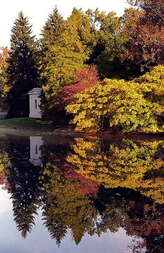 "Cincinnati - Spring Grove Cemetery & Arboretum ""Autumn Reflection"" by David Paul Ohmer, via Flickr"