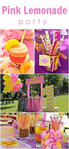 Pink Lemonade themed birthday party <3 www.weheartparties.com