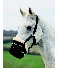 Brand Adjustable Large Pony Black Nylon Grazing Muzzle Horse Tack D.A