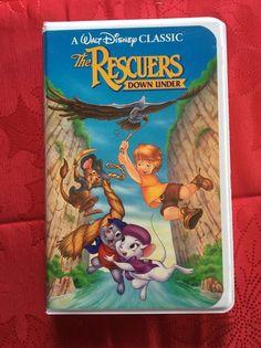 Rare Disney VHS 1991 Black Diamond The Rescuers Down Under Summer Lead On Tape  | eBay