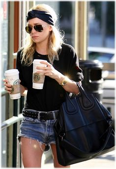 Ashley Olsen, one Starbucks cup is just not enough!