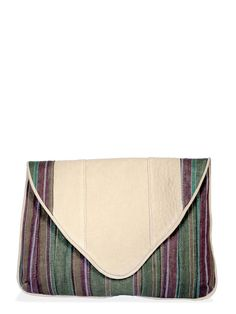 willow stripe clutch