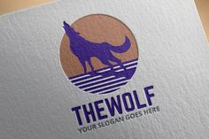 Wolf Logo Template by salmon.black on @creativemarket
