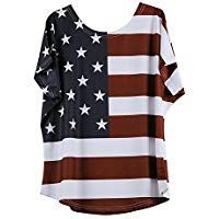ZOMUSAR Clearance Sale Women Fashion Plus Size Loose Star Stripe American Flag Printed O-Neck T-Shirt Blouse Valentine T Shirts, Valentine Day Gifts, Personalized Valentine's Day Gifts, Clearance Sale, Neck T Shirt, Shirt Blouses, American Flag, Plus Size Fashion, T Shirts For Women