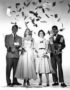 Dean Martin, Jerry Lewis, Margie Millar, Pat Crowley in Money From Home 1953