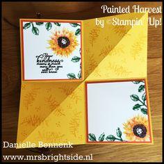 Spotlight bericht met Painted Autumn product suite in de hoofdrol. Twee projecten waarvan een onderdeel uitmaakt van Happy Mail Swap.