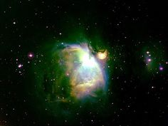 """Astrophoto: Beautiful New Look at the Orion Nebula    M 42 in Orion using the Hubble Palette. Images by Gary Gonnella, image editing by Paul M. Hutchinson.  M 42 in Orion using the 'Hubble """"Palette.' Images by Gary Gonnella, image editing by Paul M. Hutchinson."""