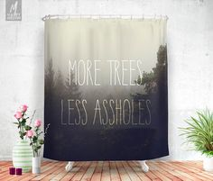 More trees please Shower curtain Shower decor by HappyMelvin