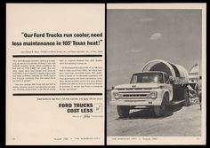 An unusual and distinctive piece for your frame. This is an original 1962 trade-publication print ad for Ford trucks-- a very unusual ad! If you've seen print ads used in set decoration for TV shows or films, you've likely seen our ads. | eBay!