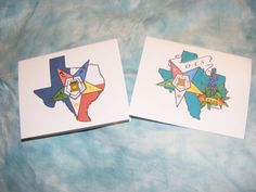 Texas OES State note Cards 10 Pack by OlsenEnterprises on Etsy, $10.00