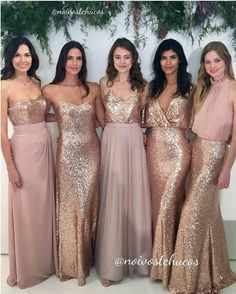 22 Glamorous Gold Bridesmaid Dresses Ideas You Can\'t Miss! | Gold ...