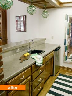 Before & After: Laminate Countertop Goes Concrete! — Kara Paslay Designs