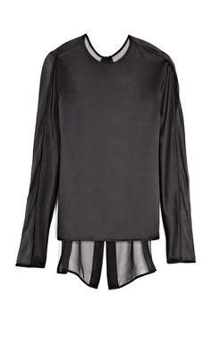 silk panel blouse / j mendel