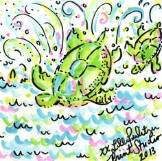 Splash of Pink - 5 x 5 Lilly Pulitzer