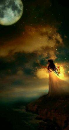 Ik vind het mooi hoe het meisje naar het donker gaat terwijl ze zelf licht is.