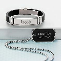 Personalized Boy's Black Matte Gift Set With Free Keepsake Box, Add Your Message for a ring bearer gift for gage