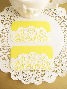 ON SALE  Vintage Doilies Gift Tags/Mini Note by IlovedielineStudio, $4.00