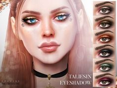 The Sims Resource: Taliesin Eyeshadow N49 by Pralinesims • Sims 4 Downloads