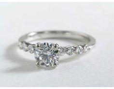1 Carat Diamond Floating Diamond Engagement Ring | Blue Nile Engagement Rings
